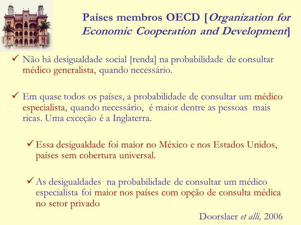 Países membros OECD [Organization for Economic Cooperation and Development]